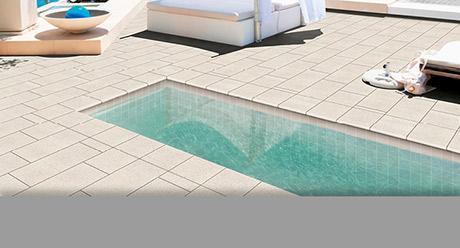 Piscina Rocks White soluciones para piscinas Natucer